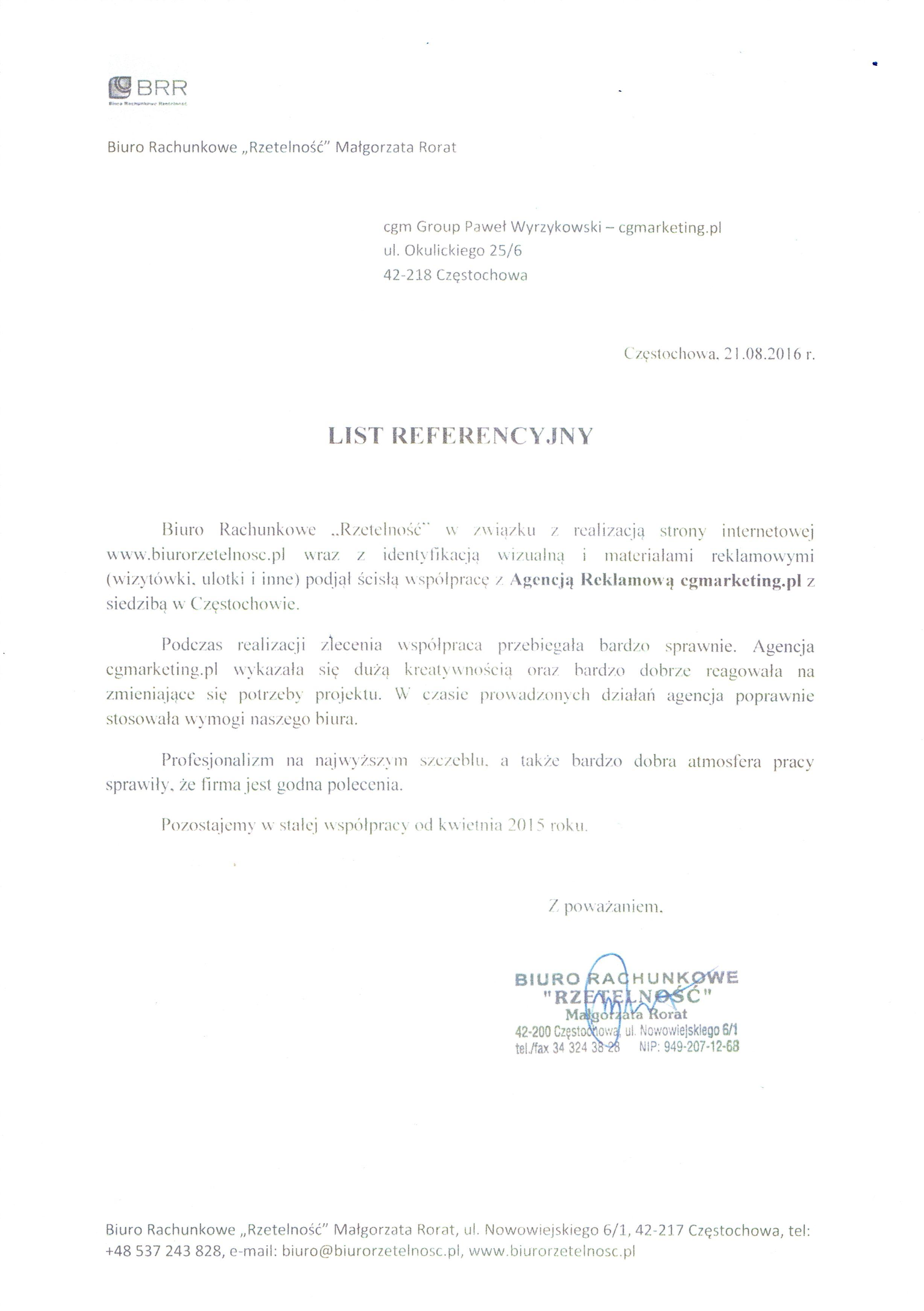 Referencje-Biuro-Rachunkowe-Rzetelność