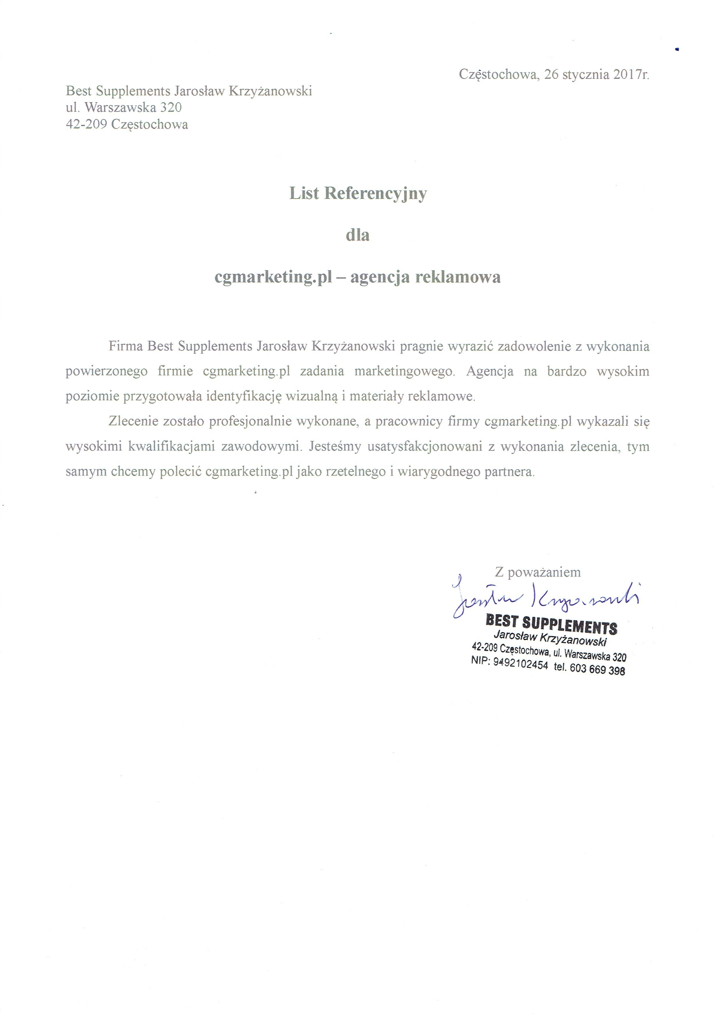 Referencje-Firma-BestSupplements