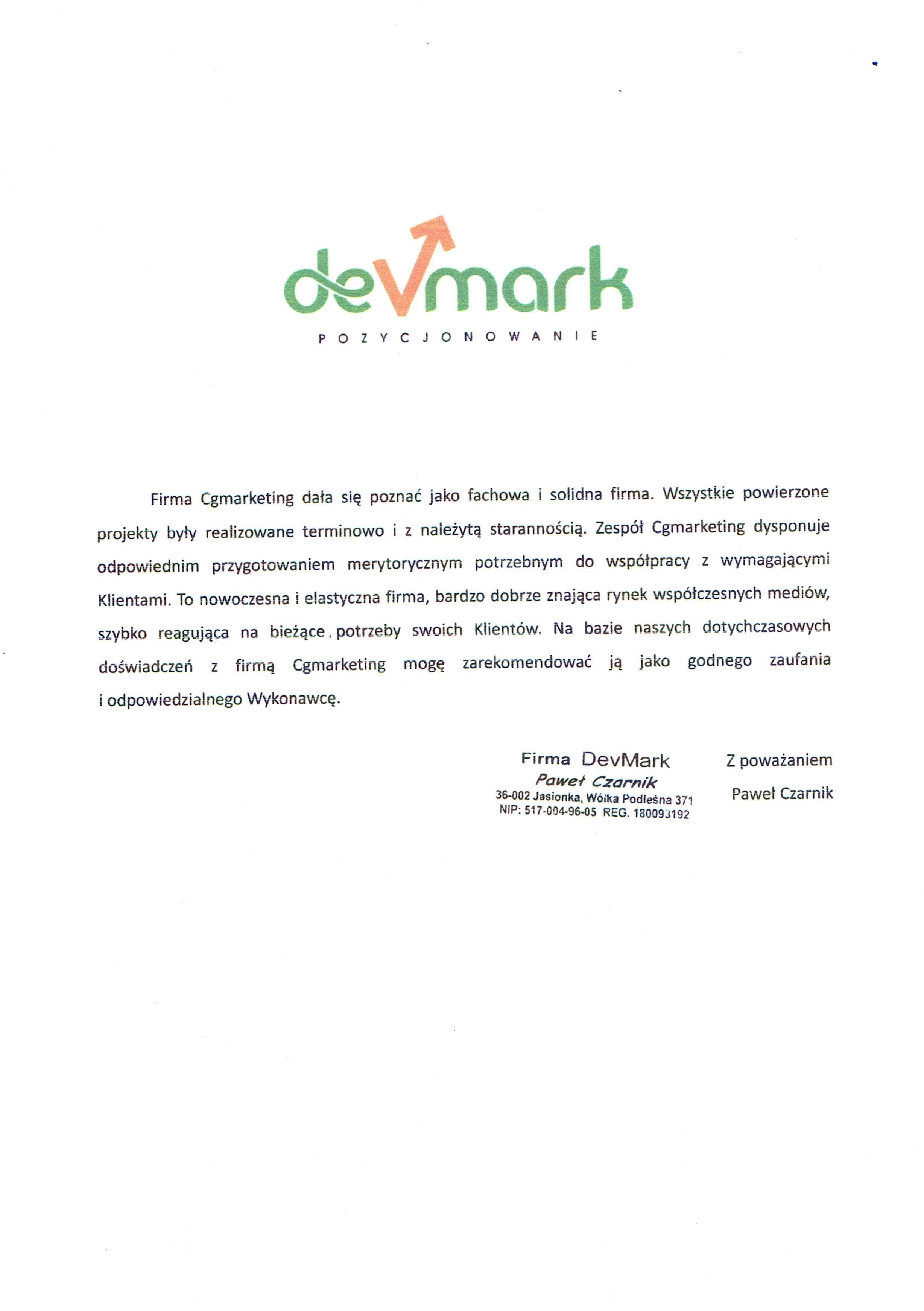 Referencje-Firma-Devmark