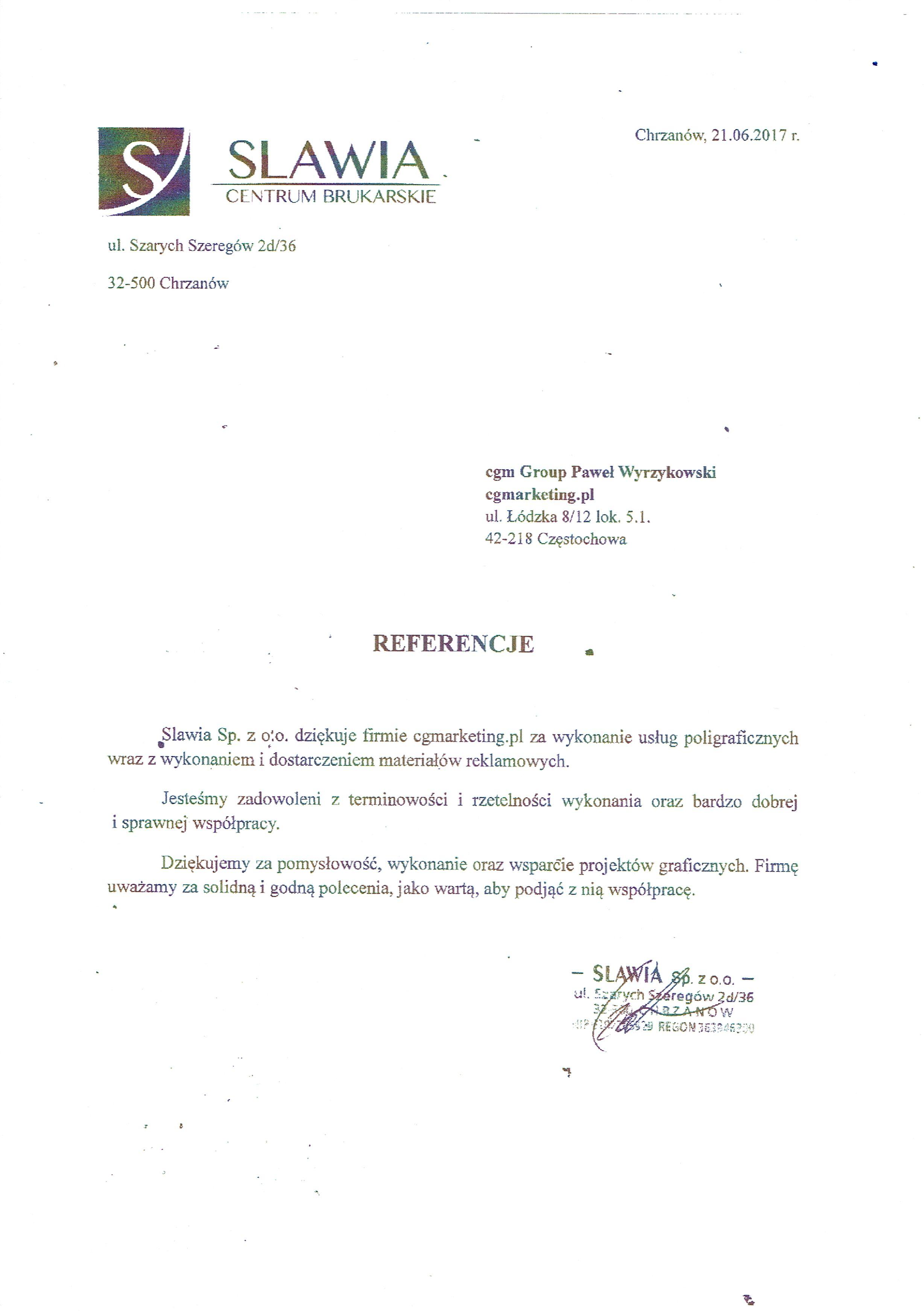 Referencje-Firma-Slavia