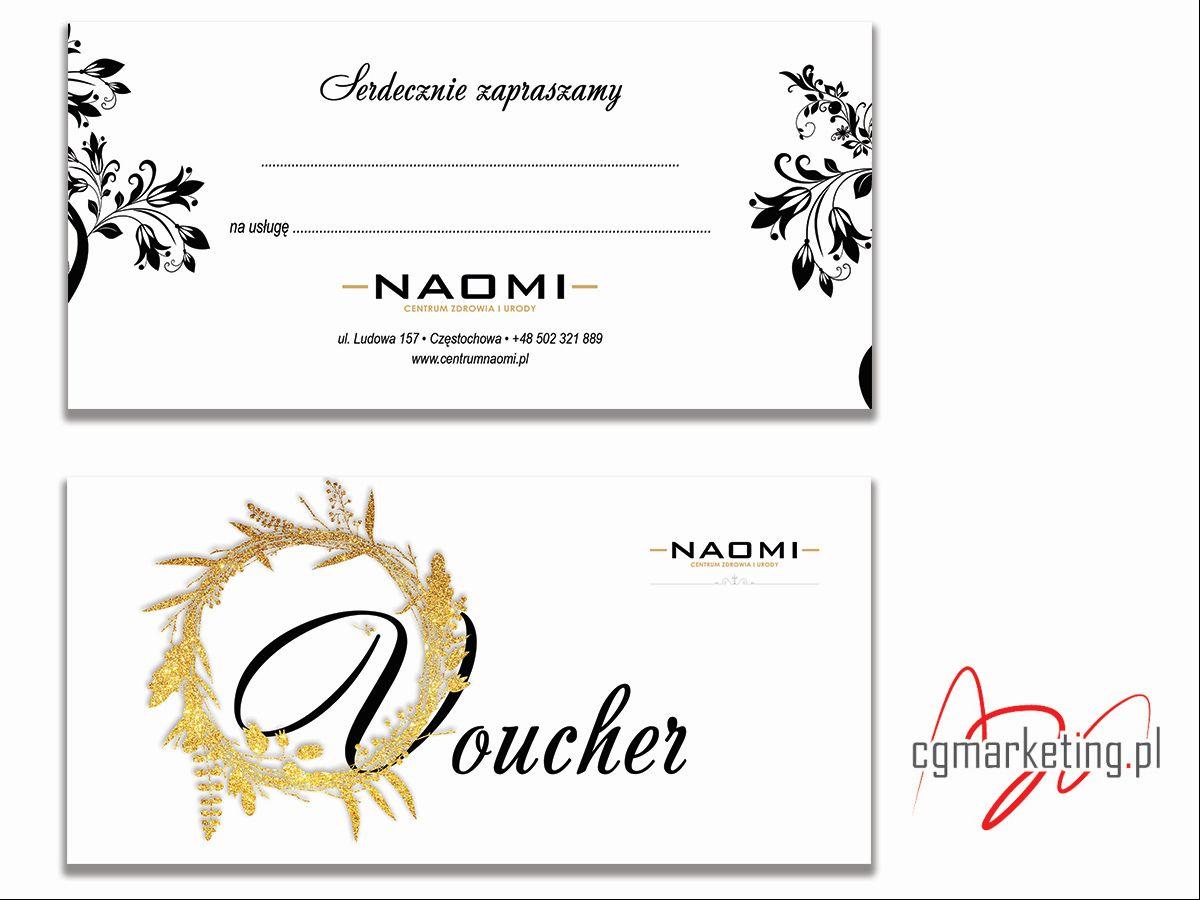 projekt graficzny voucher Naomi