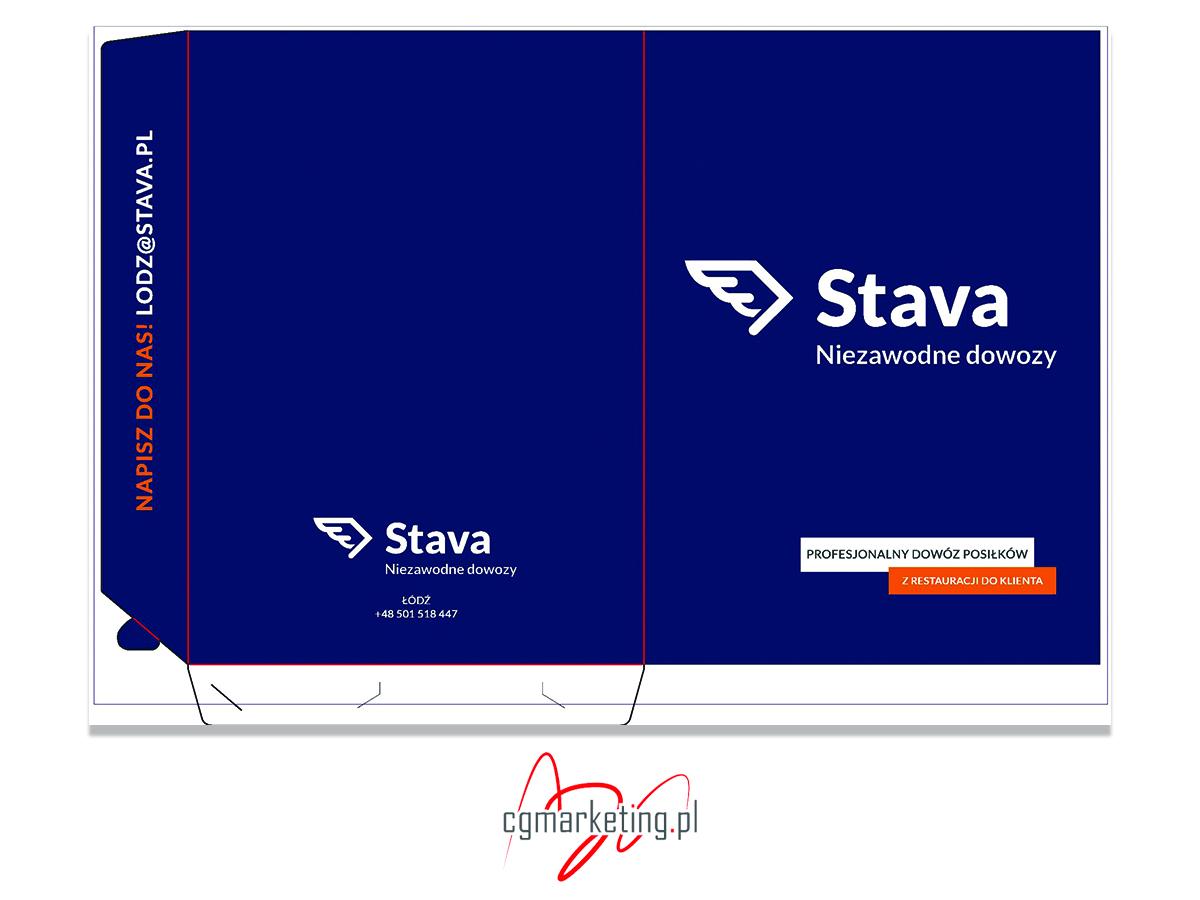 Teczki reklamowe Stava - wariant kolorystyczny