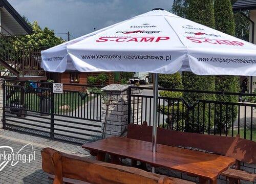 Kampery Częstochowa - parasol reklamowy